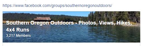 Southern Oregon Outdoors on Facebook